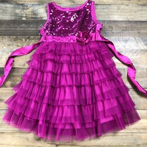 Biscotti Tulle and Sequin Dress